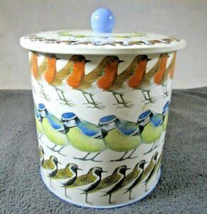Lovely Emma Bridgewater Wild Birds Metal Biscuit Tin / Barrel With Lid