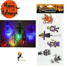 Halloween LIGHT UP WINDOW GEL STICKERS Decoration Horror Scary Party Lot 976138