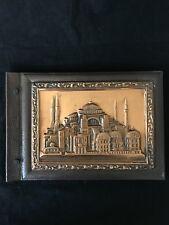 "Vintage Embossed Copper 16 Page Photo Album Istanbul Aya Sofya 10"" x 14"" Unused"