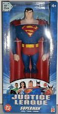"DC Mattel Justice League Superman The Man Of Steel 10"" Action Figure MIB"