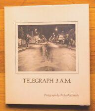 RICHARD MISRACH - TELEGRAPH 3 A.M. - 1974 1ST EDITION & 1ST PRINTING - FINE COPY