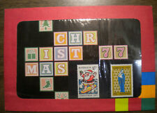 1977 Ausralia Christmas Post Office Pack w Scott's # 669 & # 670 Ognh