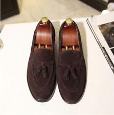 Brogue Mens Pointed Toe Suede Tassels Slip On Loafers Casual Dress Shoes Stylish