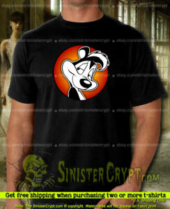 Pepe Le Pew T-Shirt, Looney Tunes love skunk cartoon, Sizes Small to 6XL