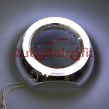 Pair of White Angel Eye Chrome IRIS Style Shrouds for 2.5'' and 3.0'' Projectors