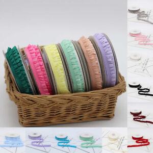 5 Yards Pleated Elastic Ribbon Ruffled DIY Bracelet Headdress Bow Decor Craft