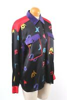 ESCADA Margaretha Ley 100% Silk Blouse Shirt Women's Size 40 ITALY