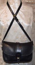 Dooney & Bourke Allwleather Vintage Exc Condition Over & Under Handbag Black