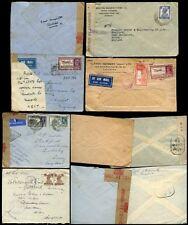 INDIA KG6 1940-43 MILITARY + CIVIL CENSORS...5 ITEMS