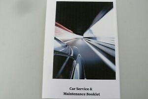 Vehicle Replacement Service Book - Blank History Maintenance Record