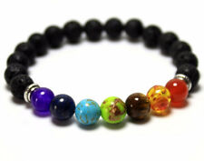 Diffuser Bracelets for Men & Women. Natural 8mm Stone Lava Rock Bead