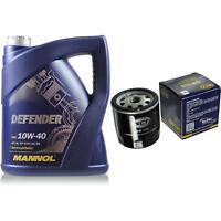 Ölwechsel Set 5 Liter MANNOL Defender 10W-40 + SCT Ölfilter Service 10164113