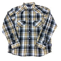 Patagonia Double Pockets, Plaid, Long Sleeve Button Up Shirt, Size Medium