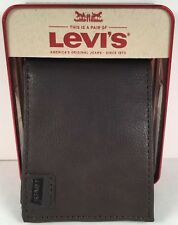Mens Levis Card Holder Wallet Brown NWT