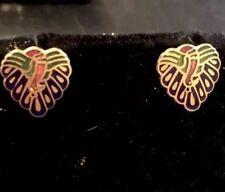 Pair Of Vintage Heart Shaped Earrings