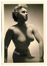 #490 RÖSSLER AKTFOTO / NUDE WOMAN STUDY * Vintage 1950s Studio Photo - no PC !