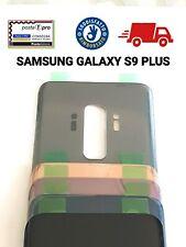 VETRO POSTERIORE SAMSUNG GALAXY S9+ PLUS G965F BACK GLASS 2LOGO QUALITA AAA+++