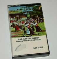 "Sing-Along in Swedish featuring ""The Sweden Singers"" Rainbow Records Cassette"