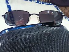 """Maui jim""""BEACHCOMBER""""129-02 BLACK/GREY, NEW IN CASE,IMPOSSIBLE FIND!"""