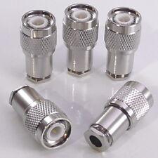 5pcs TNC Male Clamp Clamp Plug, 50Ω for RG58 RG223 LMR195 RG400, 50 Ohm, Top Hat