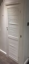 Open Vented Slatted Louvre Door - White gloss - Height 1829mm x Width 533mm