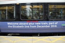PHOTO  ELIZABETH LINE )NE-CROSSRAIL) BRANDING ON A BOMBARDIER (DERBY) CLASS 345