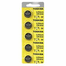 Toshiba CR1632 3 Volt Lithium Coin Battery (5 Batteries)