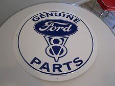 tin metal decor gas oil dealer garage repair shop advertising petroleum ford