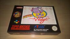 Super widget-Super Nintendo-SNES-Mint-Embalaje original-pal-póster-artículo de colección