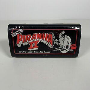 Piranha II Steel Tip Dart Set Dimplex 3D Flights 90% Tungsten Dart World Case