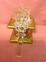 """Mikasa ~ 24k Lead Crystal """"GRAPES"""" Shaped Figural Wine Stopper ~5.75"""""""