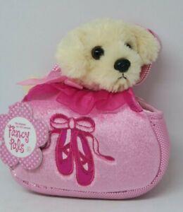 NEW Aurora Fancy Pals Labrador Dog Puppy in Ballerina Shoe Bag Soft Plush Toy