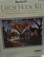 """New listing New Sealed Caron WonderArt Country Cottages Latch Hook Rug Kit #4304 20"""" x 27"""""""