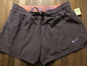 Nike Dri-Fit Lined Running Athletic Shorts Womens Size M
