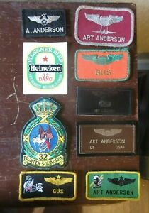 Patch Collection from USAF Pilot.  32nd TFS and 2nd FS.  Wolfhounds Netherlands.