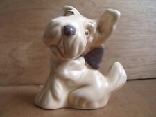 Sylvac Dog Figure 1119 Beige Terrier with Bow Free UK Post