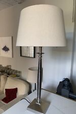 John Lewis Gwen Nickel lamp With Oka Natural Linen Drum Shade