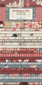 "Wilmington Prints Farmhouse Chic Jelly Roll Fabric Nai Danhui 40 2.5x44"" Strips"