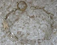 Taschenuhrenkette Uhrenkette Kette für Taschenuhren silberauflage Antik um 1900