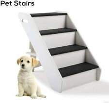 4 Steps Portable Dog Steps for High Bed Pet Stairs Small Dogs Cats Ramp Ladder