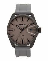 Diesel Mens MS9 Black Case Grey Silicone Strap Watch DZ1878 Fast Post