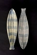 Vintage Early Alessio Tasca Midcentury Modern Fish Dishes Raymor Italy c.1950s