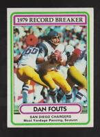 1980 Topps #3 Dan Fouts card, Los Angeles Chargers HOF