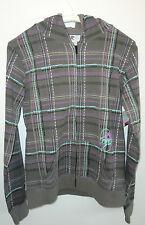 Billa Bong, Kapuzensweater mit Reißverschluss, Gr. M, grau/braun, Baumwolle