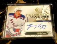 2018-19 SP Authentic Signatures #ASJV Jimmy Vesey Auto NYR Toronto Maple Leafs