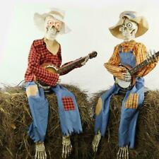 "Halloween 3ft 3"" (99 cm) Pair of ANIMATED Banjo Skeletons Indoor Decoration"