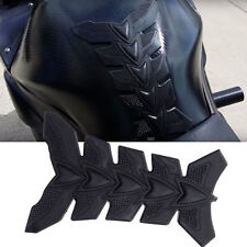 Black 3D Rubber Motorcycle Modified Fuel Gas Tank Pad Protector Decal Sticker