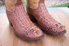 American Alligator / Crocodile Cowboy Western Boots Mens  9 D  BLACK JACK!