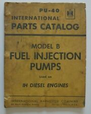 International PU-40 Parts Catalog Diesel Engines 1956
