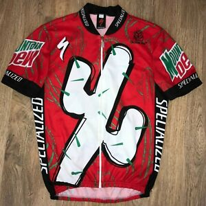 Specialized Mountain Dew Red Cactus Cup cycling jersey size XL
